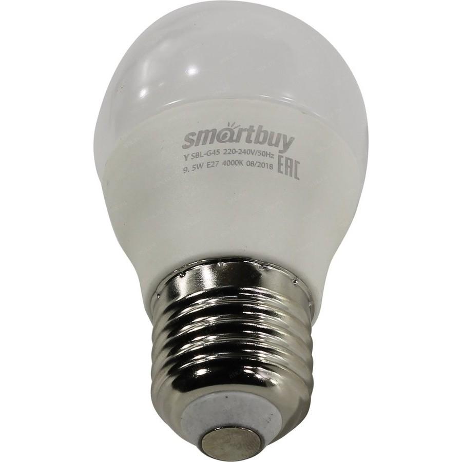 Smartbuy SBL-G45-9_5-30K-E27 Светодиодная (LED) Лампа Smartbuy-G45-9,5W/<wbr>3000/<wbr>E27 (SBL-G45-9_5-30K-E27)