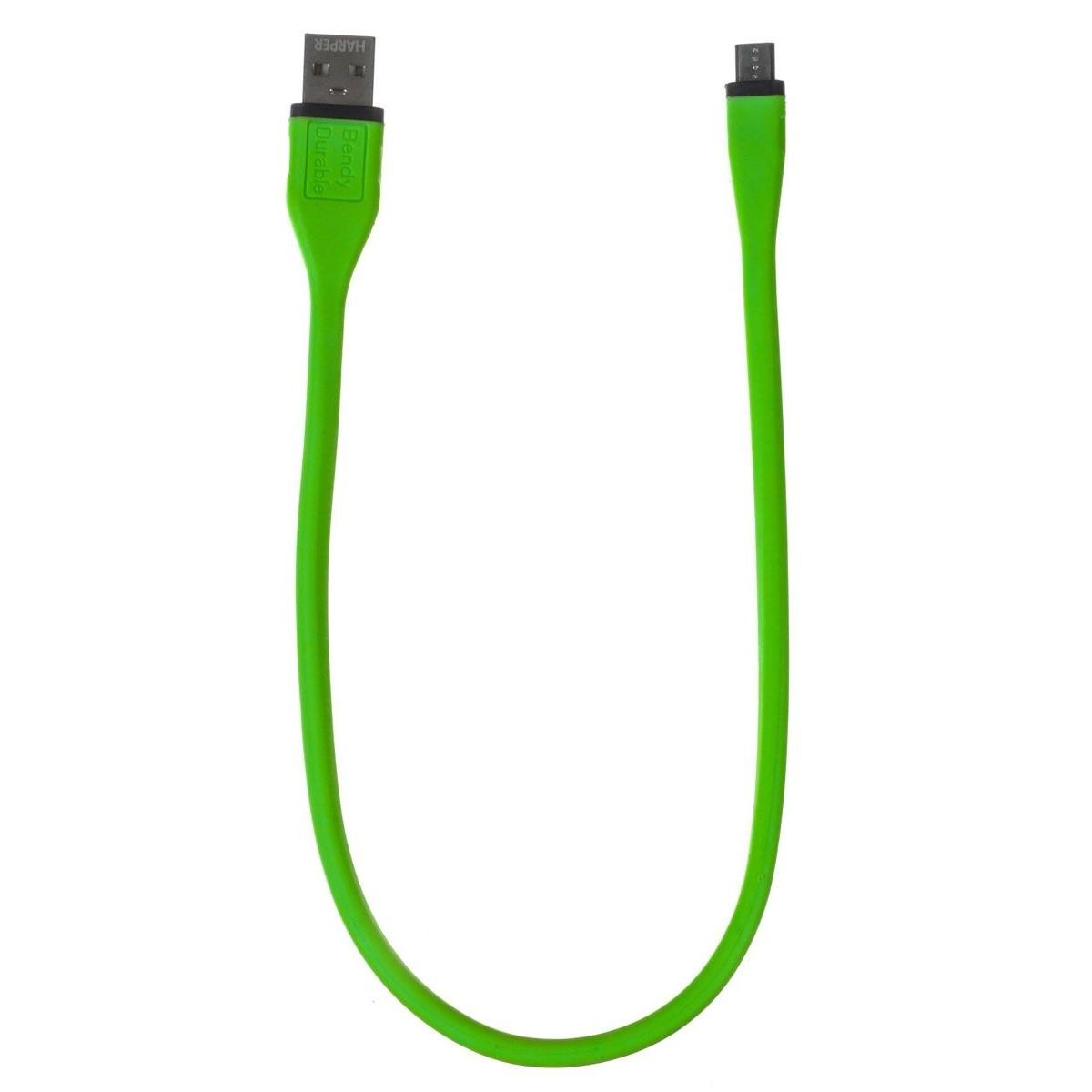 Harper Micro USB, BCH-338 green (Длина кабеля: 38см)