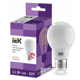Iek LLF-A60-11-230-30-E27-FR Лампа LED A60 шар матов. 11Вт 230В 3000К E27 серия 360°
