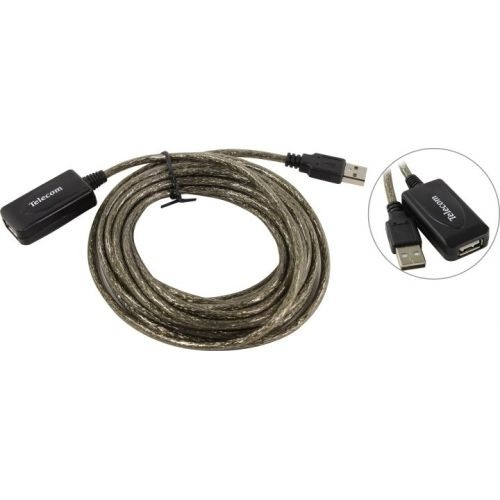Telecom Кабель USB2.0-repeater, удлинительный активный < Am--> Af> 5м < TUS7049-5M>