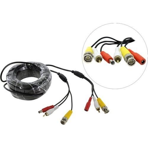 ORIENT CVAP-20, Кабель для камер видеонаблюдения, видео BNC + аудио RCA + питание, 20 метров