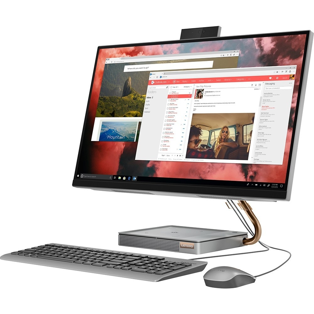 "Lenovo IdeaCentre A540-27ICB [F0EK000XRK] grey 27"" QHD TS i5-9400T/<wbr>8Gb/<wbr>1Tb+128Gb SSD/<wbr>W10/<wbr>k+m"