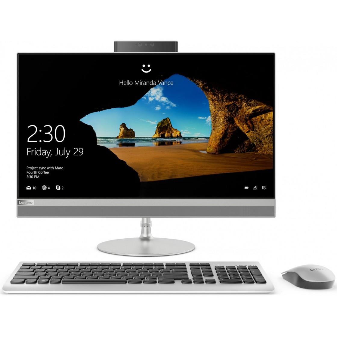 """Lenovo IdeaCentre 520-24ICB [F0DJ005ERK] silver 23.8"""" FHD TS i3-8100T/<wbr>4Gb/<wbr>1Tb/<wbr>DVDRW/<wbr>W10/<wbr>k+m"""
