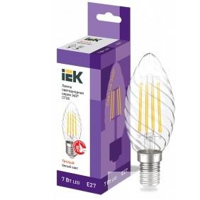 Iek LLF-CT35-7-230-30-E27-CL Лампа LED CT35 свеча вит. 7Вт 230В 3000К E27 серия 360°
