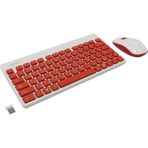 Комплект клавиатура + мышь Smartbuy 220349AG красно-белый [SBC-220349AG-RW]