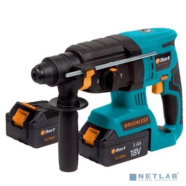 Перфораторы Bort Перфоратор аккумуляторный BHD-18Li-BLZ (2x3,0А.ч) Батарея 18 В; Частота ударов 4250 уд/мин; Вес изделия 3,3 кг; 3,3 (3,3) кг; 39,2 x 11 x 34;гарантия 2 г 93410129