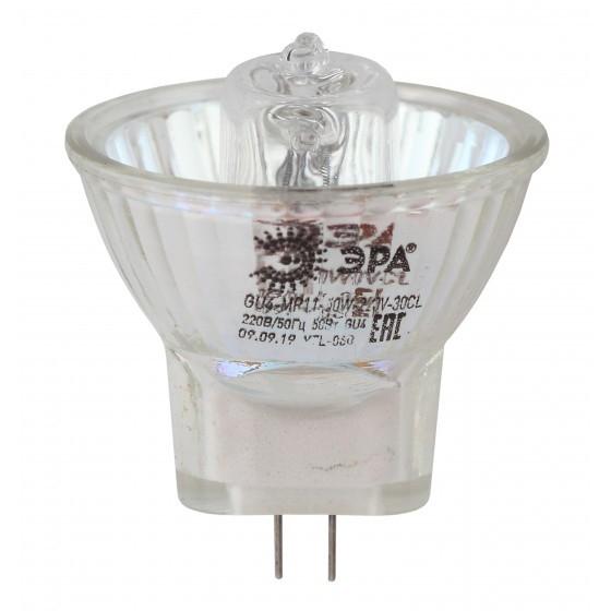 ЭРА Б0044094 GU4-MR11-35W-220V-30 CL Лампа галогенная (галоген, софит, 35Вт, нейтр, GU4).