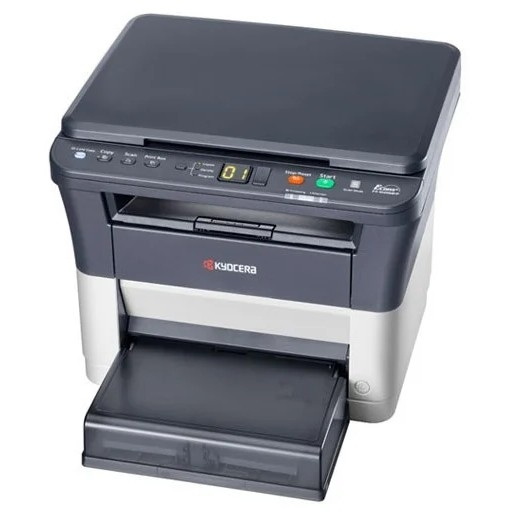 МФУ лазерный Kyocera FS-1020MFP (А4, принтер/<wbr>сканер/<wbr>копир, 20 ppm, 1200dpi, 25-400%, 64Mb, USB, крышка, пуск. комплект) (1102M43RU0)