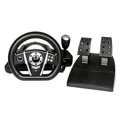 Dialog Игровой руль GW-135VR GranTourismo - эф. вибрации, 2 педали, рычаг ПП, PC USB