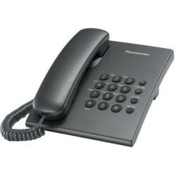 Panasonic KX-TS2350RUT (титан) повтор номера, регул-ка громкости, кр. на стену