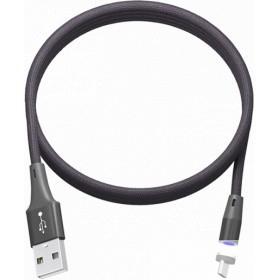 """RITMIX RCC-532 Magnet Black ("""" Кабель Type C USB - USB для зарядки, 1м, ткан. опл. ,  Снимающийся магнитный коннектор 2А"""" )"""