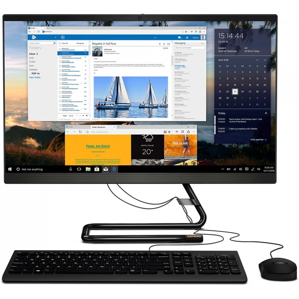 """Lenovo IdeaCentre 3 24ARE05 [F0EW0036RK] black 23.8"""" FHD Ryzen 7 4700U/<wbr>8Gb/<wbr>1Tb+256Gb SSD/<wbr>DVDRW/<wbr>W10/<wbr>k+m"""