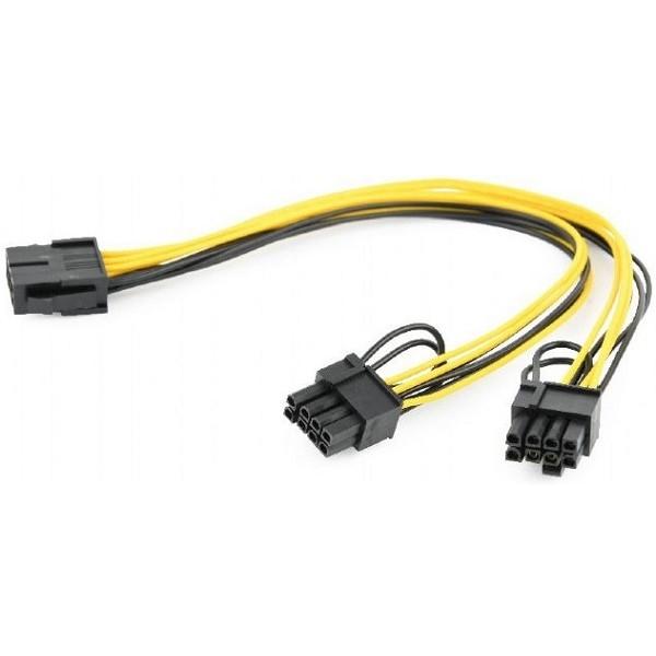 Cablexpert Кабель питания PCI-Express 6-пин на 6+2 пин x 2 шт. , 0.3 м (CC-PSU-85)