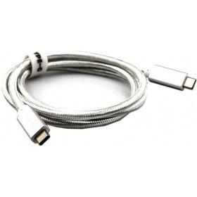 Telecom Кабель USB 3.1 Type Cm -- Cm  IC 5А 10Gbs длина 1M, Telecom < TC420S> серебряный