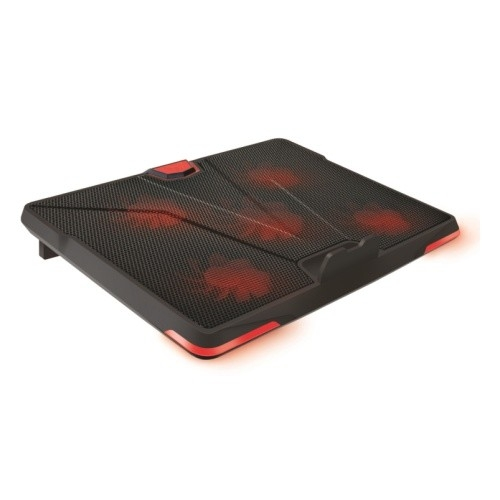 "CROWN  Подставка для ноутбука CMLS-130 ( до 19"" Размер 390*295*30 мм , кулеры: D110mm*1+ D85mm*4, ,красная led подсветка, регулятор скорости, 3 уровня наклона)"