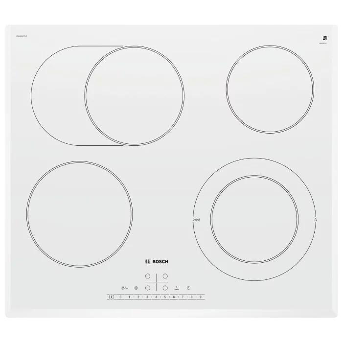 Электрическая,  РОЗНИЧНЫЙ ЭКСКЛЮЗИВ! 4.5x59.2x52.2, стеклокерамическая поверхность, скошенные края, независимая, цвет: белый