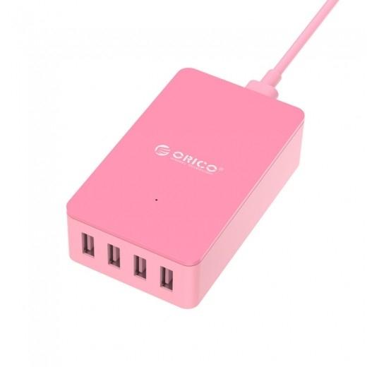 Зарядное устройство Orico CSE-4U (розовый)