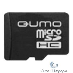 Micro SecureDigital 4Gb  QUMO (QM4GCR-MSD10-FD-RED) CL10 + USB картридер FUNDROID Red