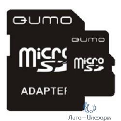 Micro SecureDigital 8Gb QUMO QM8GMICSDHC4 {MicroSDHC Class 4, SD adapter}