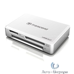 USB 3.0 Multi-Card Reader F8 All in 1 Transcend [TS-RDF8W] White