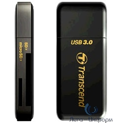 USB 3.0 Multi-Card Reader F5 All in 1 Transcend [TS-RDF5K] Black