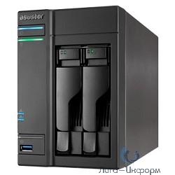 Asustor AS-602T, 2 Bay, I.A. 2,13ГГц,/1GB*DDR3/SATAIII/LCD/GbEx2/USB 3.0+2