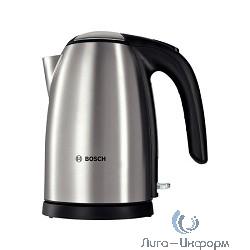 BOSCH TWK7801 Чайник, 2200Вт, нержавеющая сталь, серебристый-черный