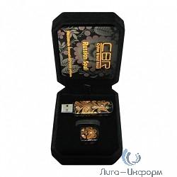 CBR USB Флеш MD 01s Russian Soul, 8 Gb, черно- золотой со стразами, ручная роспись