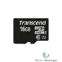 Micro SecureDigital 16Gb Transcend TS16GUSDCU1 {MicroSDHC Class 10 UHS-I}