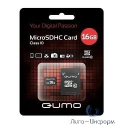 Micro SecureDigital 16Gb QUMO QM16GMICSDHC10U1 {MicroSDHC Class 10 UHS-I, SD adapter}