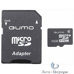 Micro SecureDigital 32Gb QUMO QM32GMICSDHC10U1 {MicroSDHC Class 10 UHS-I, SD adapter}