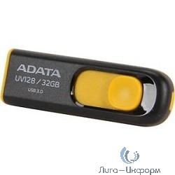 A-DATA Flash Drive 32Gb UV128 AUV128-32G-RBY {USB3.0, Black-Yellow}