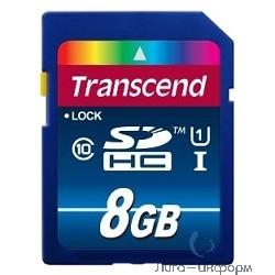 SecureDigital 8Gb Transcend TS8GSDU1 {SDHC Class 10, UHS-I, 300X}