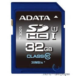 SecureDigital 32Gb A-DATA ASDH32GUICL10-R {SDHC Class 10, UHS-I}