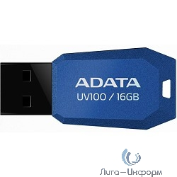 A-DATA Flash Drive 16Gb UV100 AUV100-16G-RBL {USB2.0, Blue}