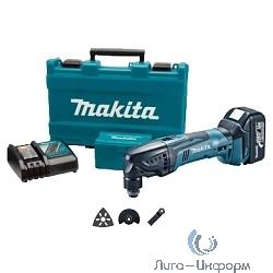Makita BTM40RFEX1 Аккумуляторный многофункциональный инструмент [BTM40RFEX1] {14.4В,2х3Ач Li-ion,6000-20000об\мин,1.9кг,чем,набор оснастки(3шт)}