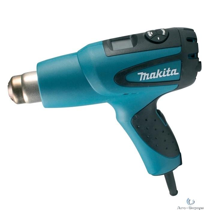 Makita HG651CK SET Пистолет горячего воздуха [HG651CK] {2000Вт,200-550л\м,80-650грС,0.63кг,чем,4 насадки, прижимной ролик}