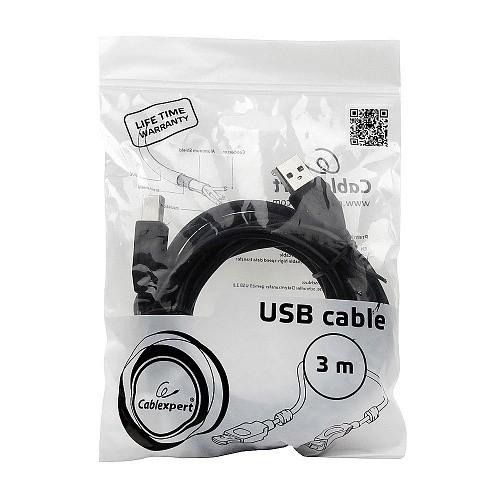 Gembird/<wbr>Cablexpert CCF2-USB2-AMBM-10 USB 2.0 Pro Кабель  , AM/<wbr>BM, 3м, экран, 2феррит. кольца, черный, пакет
