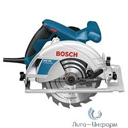 Bosch GKS 190 Пила дисковая [0601623000] {1400 Вт, 5500 об/мин, 190х30мм, 66мм, 4,2кг, коробка}