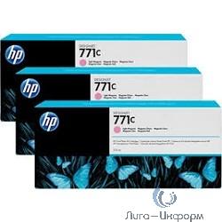 B6Y35A Тройная упаковка картриджей HP 771C,  светло-пурпурный [B6Y35A]