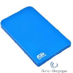 "AgeStar 3UB2O1 blue Внешний корпус для 2.5"" SATA-устройств, 3UB2O1 blue, AgeStar USB3.0, алюминий"