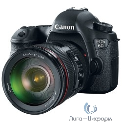 Canon EOS 6D EF 24-105 IS STM черный  {20Mpx CMOS 35мм, оптическая стаб. объектива, HD1080/30, экран 3.0'', Li-ion}