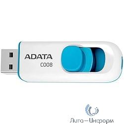 A-DATA Flash Drive 32Gb C008 AC008-32G-RWE {USB2.0, белый}