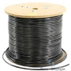 5bites Express FS5525-305BE  Кабель FTP / SOLID / 5E / 24AWG / 100% COPPER / PVC / BLACK / OUTDOOR / DRUM / 305M