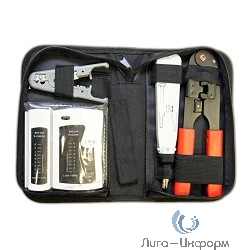 5bites TK030 Набор инструментов , клещи LY-T210C 8p8c, LY-T2020 Krone, нож LY-501C, тестер кабеля LY-CT005
