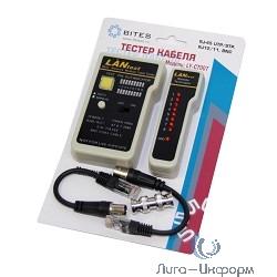 5bites LY-CT007 Тестер кабеля  для UTP/STP RJ45, BNC, RJ11/12