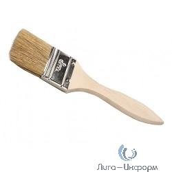 """DEXX """"ПРАКТИК""""  0100-025_z02 Кисть флейцевая, деревянная ручка, натуральная щетина, индивидуальная упаковка, 25мм"""