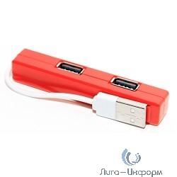 5bites HB24-204RD Концентратор 4*USB2.0 / USB PLUG / RED