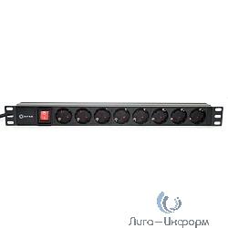 """5bites PDU819A-05 Блок розеток  8S / AL / SWITCH / 1U / 19"""" / 2M*3G*1.5MM2 / VDE"""