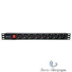 """5bites PDU819P-08 Блок розеток  8S / PVC / SWITCH / 1U / 19"""""""